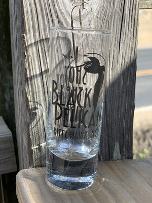 Black Pelican Shot Glass- 4oz