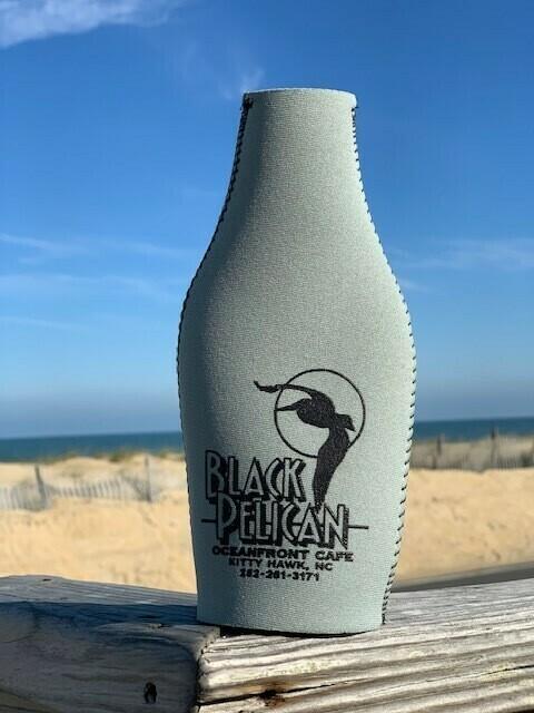 Black Pelican Bottle Koozies