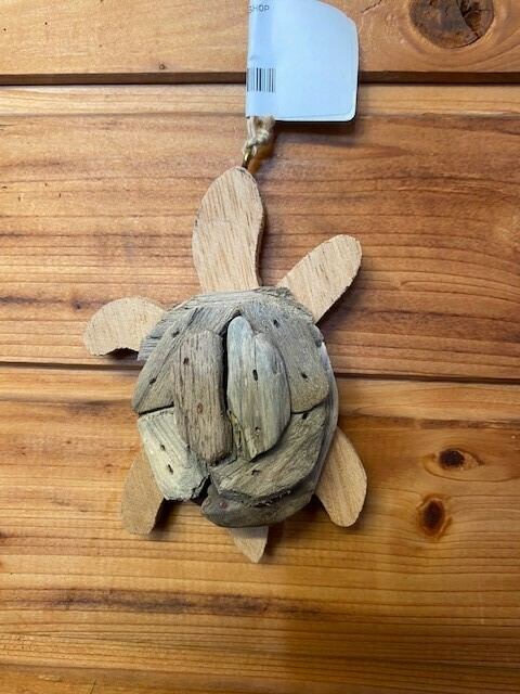 Driftwood Turtle Ornament
