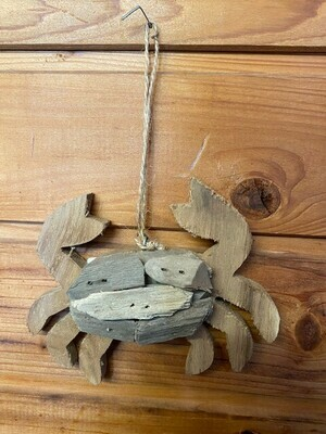 Driftwood Crab Ornament