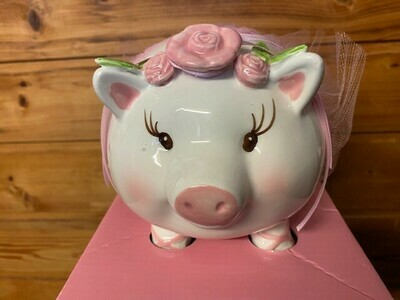 Ballerina Pig Coin Bank
