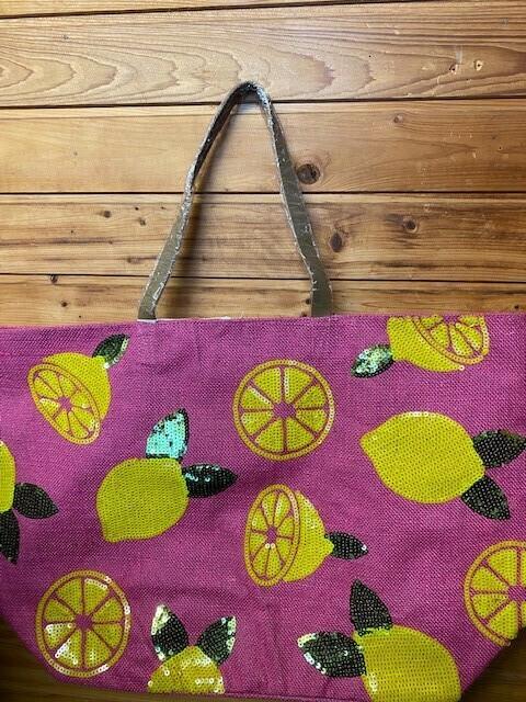 Summer Time Pink Lemon Tote