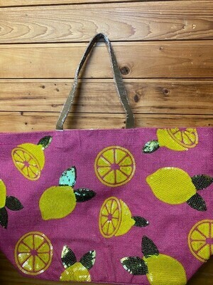 Summer Time Pink Lemon Tote