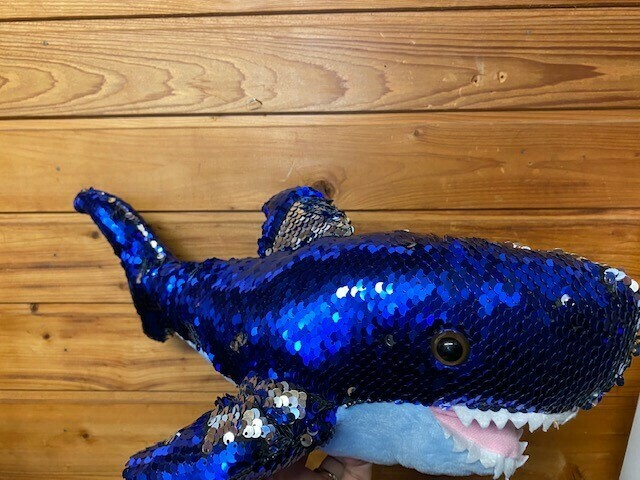 Sequin Shark Plush Toy