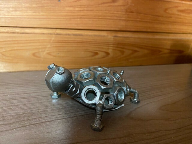 Handcrafted- Metal Turtle
