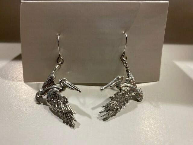 Flying Pelican Earrings