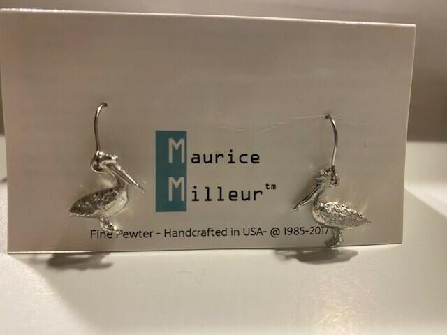 Dainty Pelican Earrings