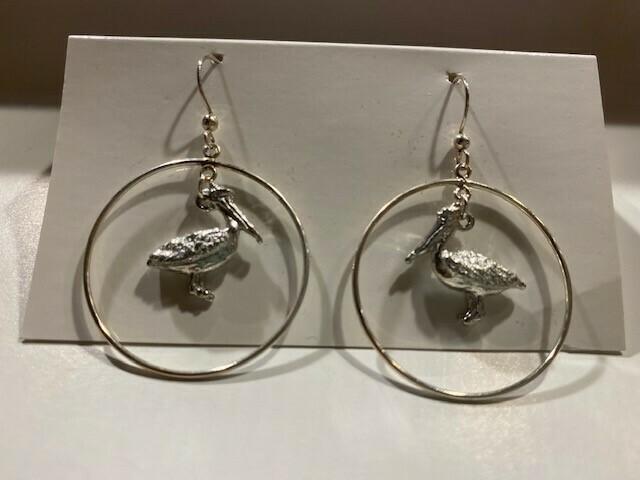 Pelican Hoop Earrings