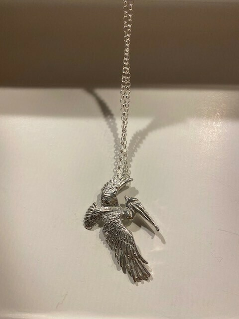 Flying Pelican Necklace