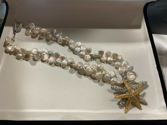Starfish Pearl Necklace
