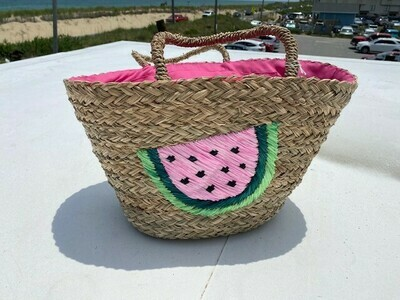 Straw- Watermelon Bag