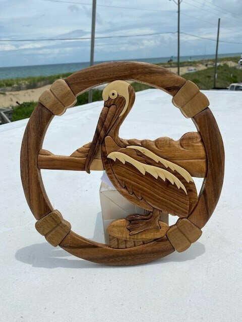 Handcrafted- Pelican Wall Hang