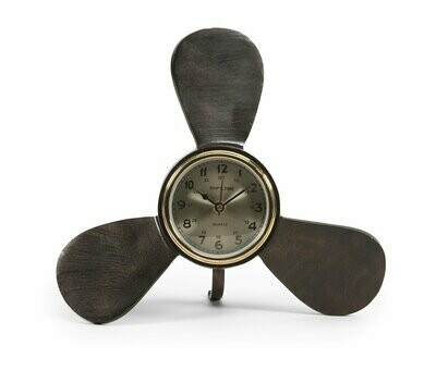 Tidus Metal Propeller Nautical Desk Clock