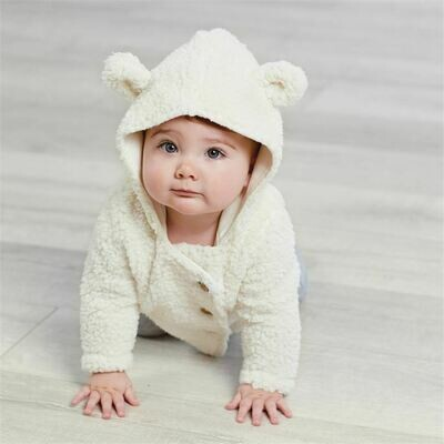Ivory Sherpa Hoodie Baby