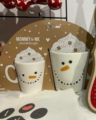 Mommy & Me Snowmen Mugs