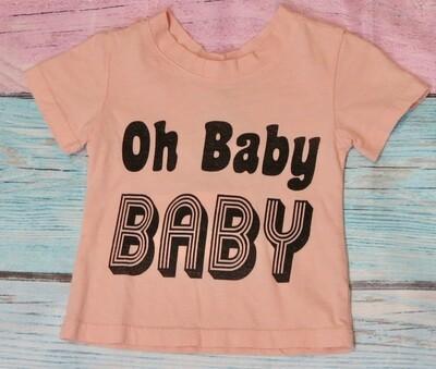 Boy Grey Oh Baby T-Shirt
