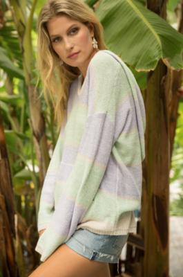 Knit Hooded Sweatshirt