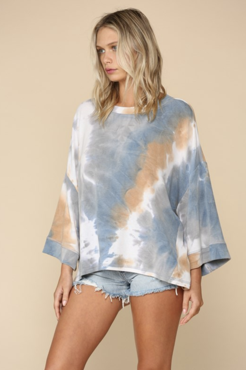 Oversized French Terry Tie Dye Top