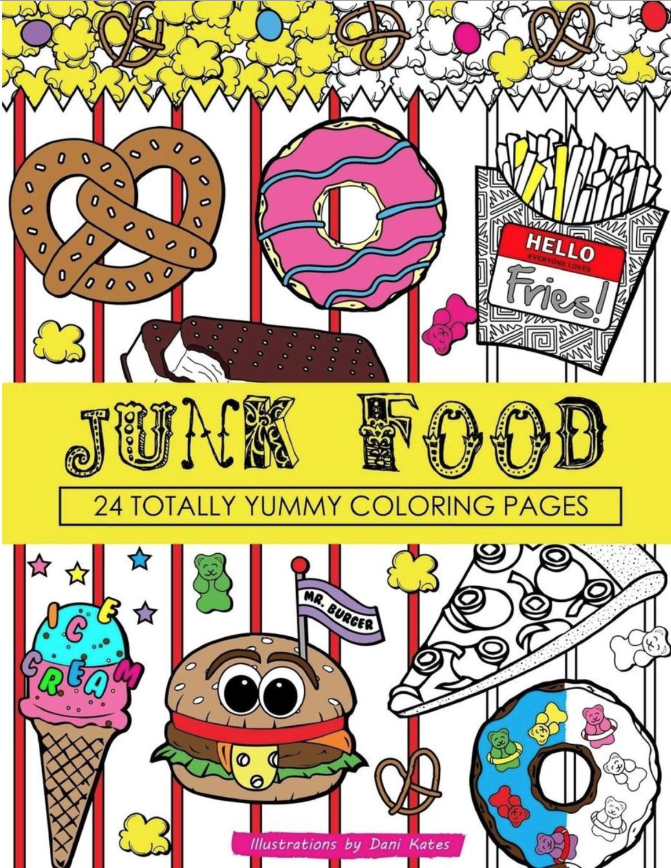 Junk Food Coloring Book