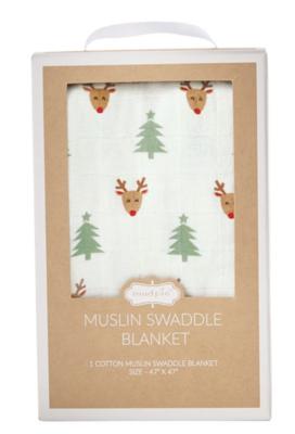 Muslin Christmas SWADDLE