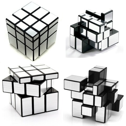 Головоломка QiYi Mirror Blocks 3x3x3 silver/black