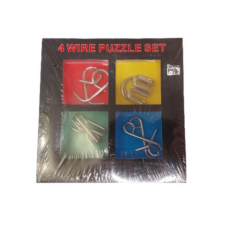 НАБОР ГОЛОВОЛОМОК - 4 Metal Puzzles SET