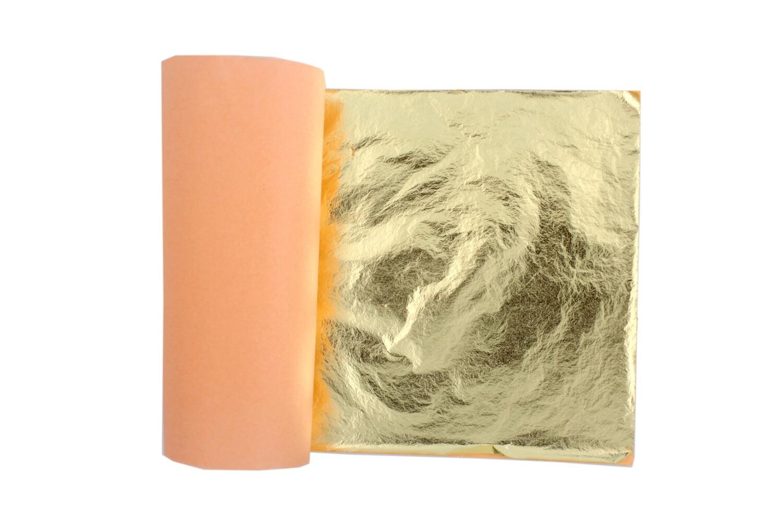 Поталь 14х14 см. Сусальные листы имитации золота и серебра.