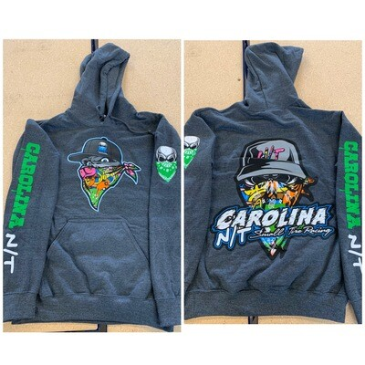 Dark Heather Grey Graffiti Hoodie