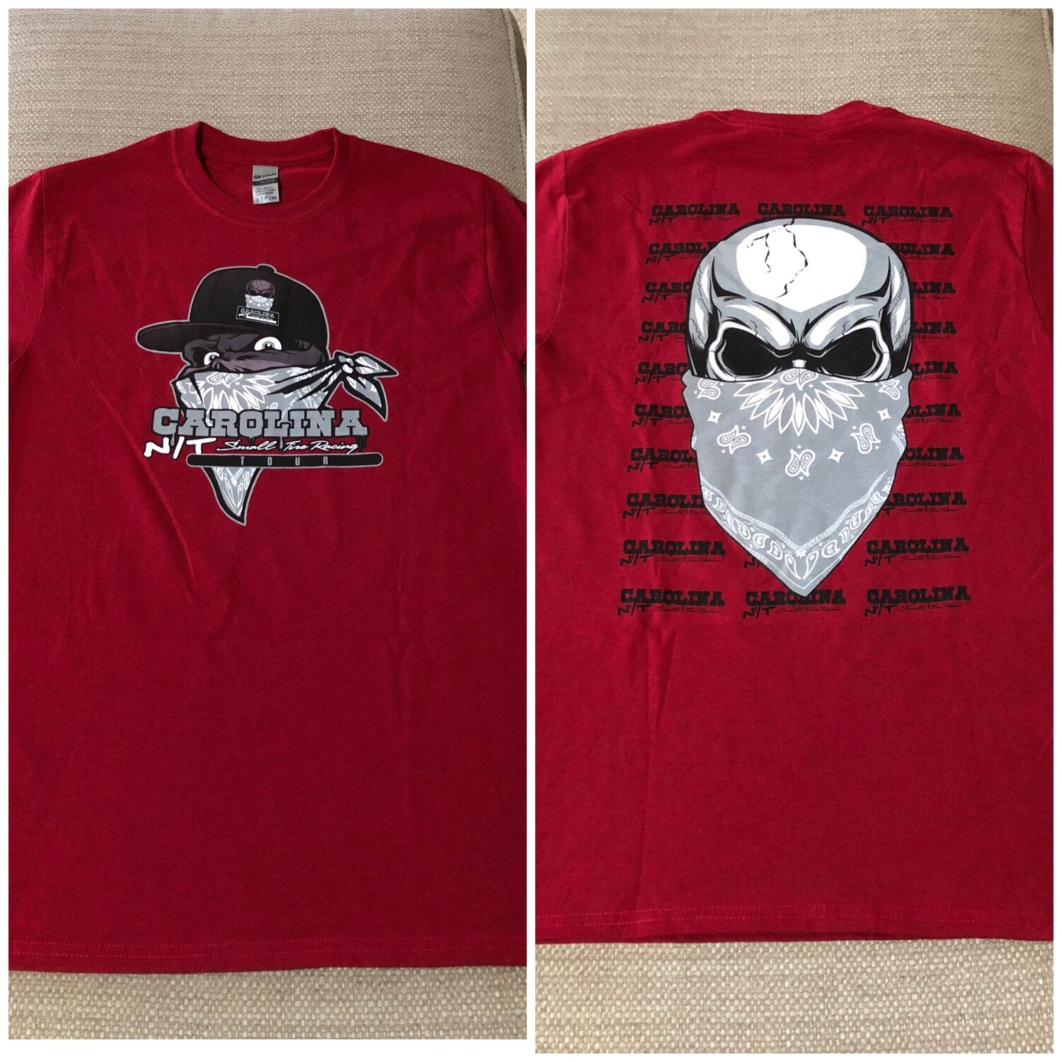 Big Skull Cherry Red /Grey Skull