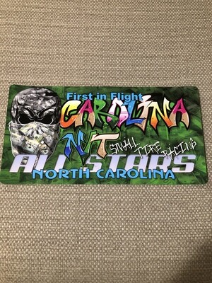 Money Big Skull Green Graffiti license plate Decal