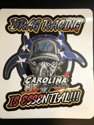 America Flag Drag Racing Essential (DECAL)