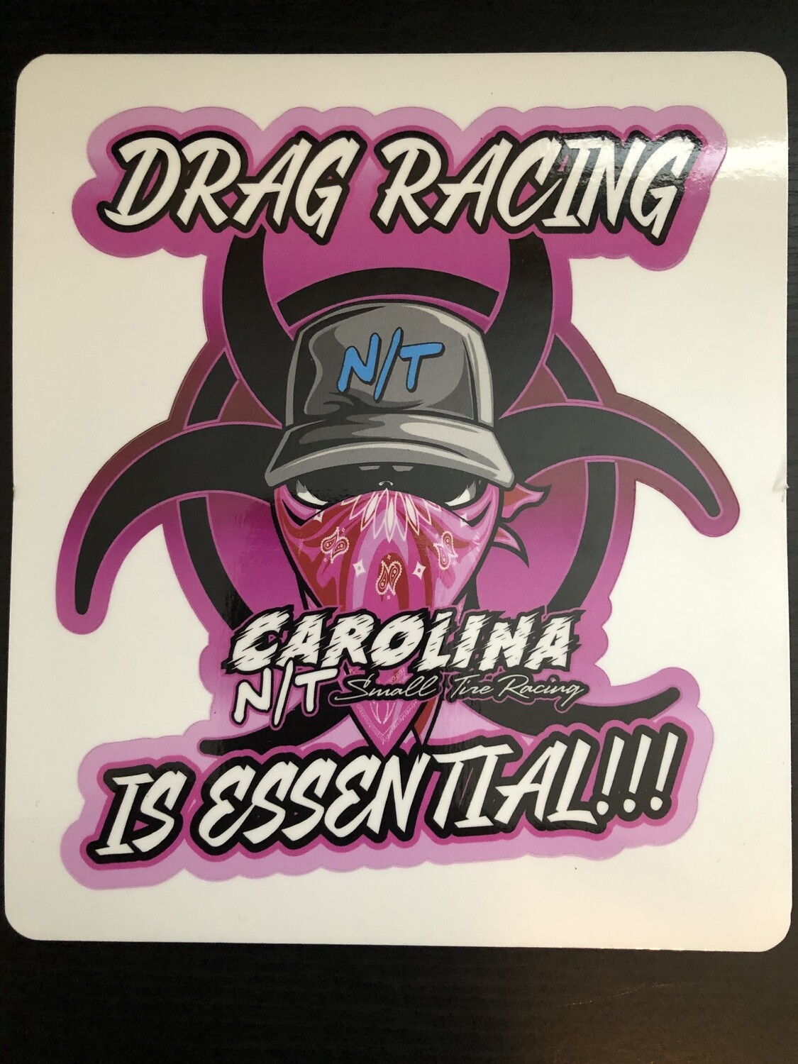 Pink Drag Racing Is Essential (DECAL)