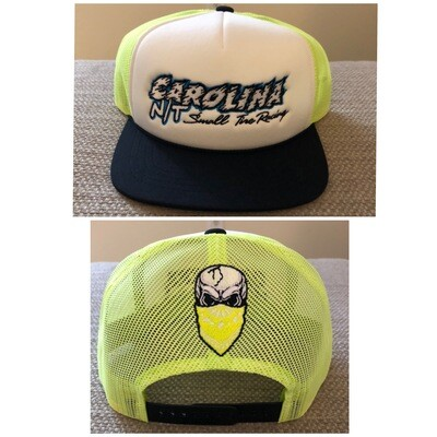 Neon yellow/white/black New style Letters Trucker Hat