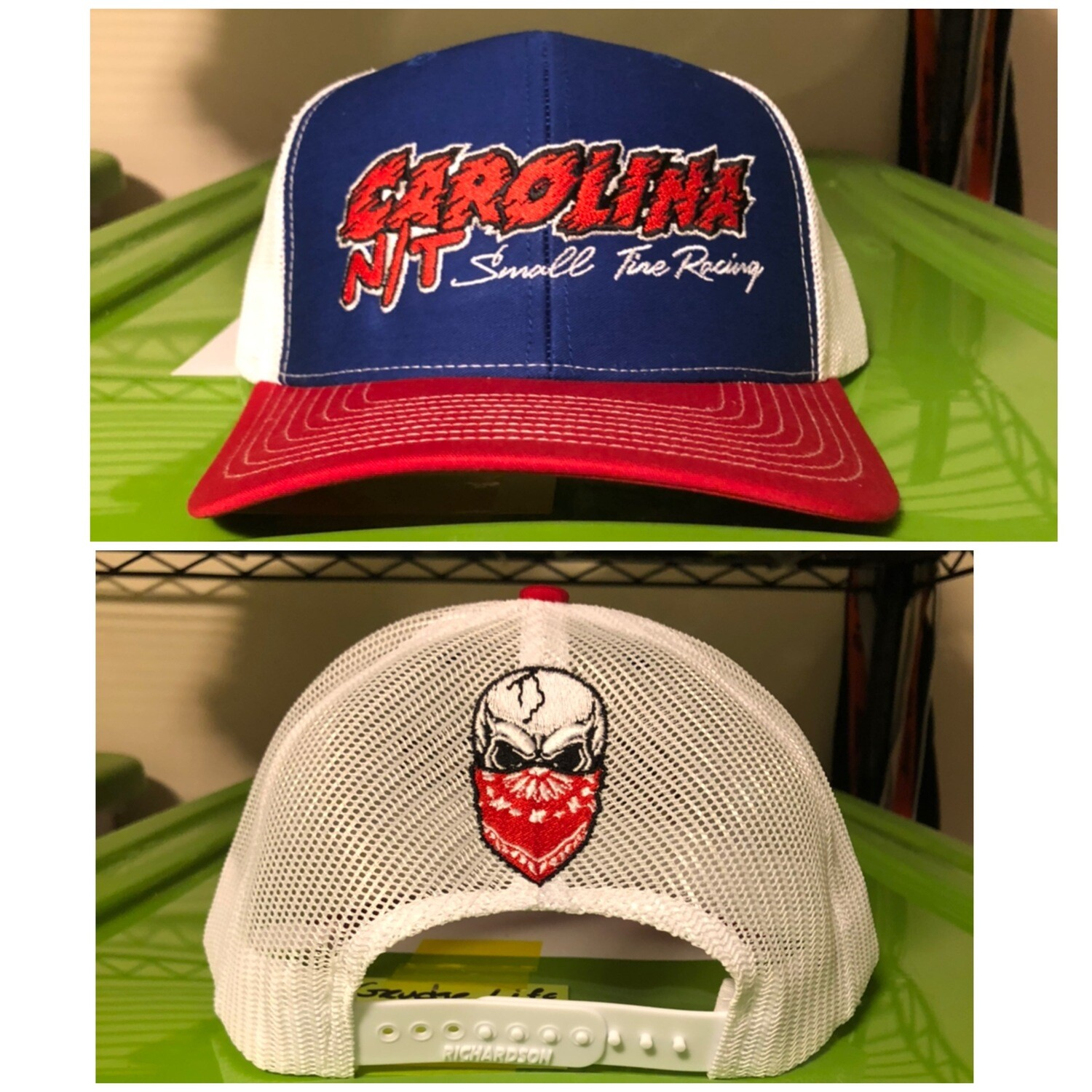Red /white/Blue Trucker Hat Red Letters