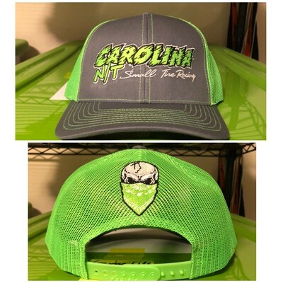 Neon Green/Grey Trucker Hat Green Letters
