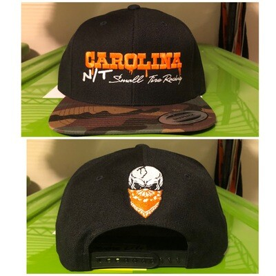 Camo /Black SNAP BACK orange Letters