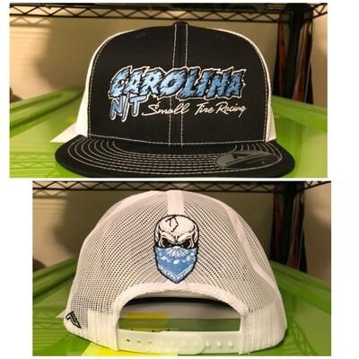 White/Black Trucker Hat Carolina Blue Letters