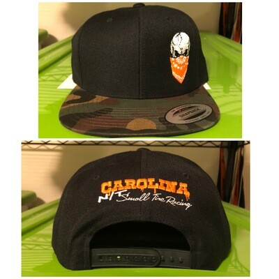 Camo/Black SNAP BACK orange Skull