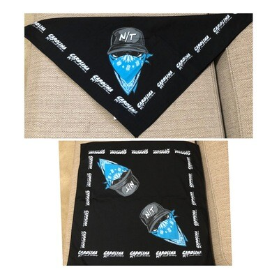 Carolina N/T Bandanna Carolina Blue/Black