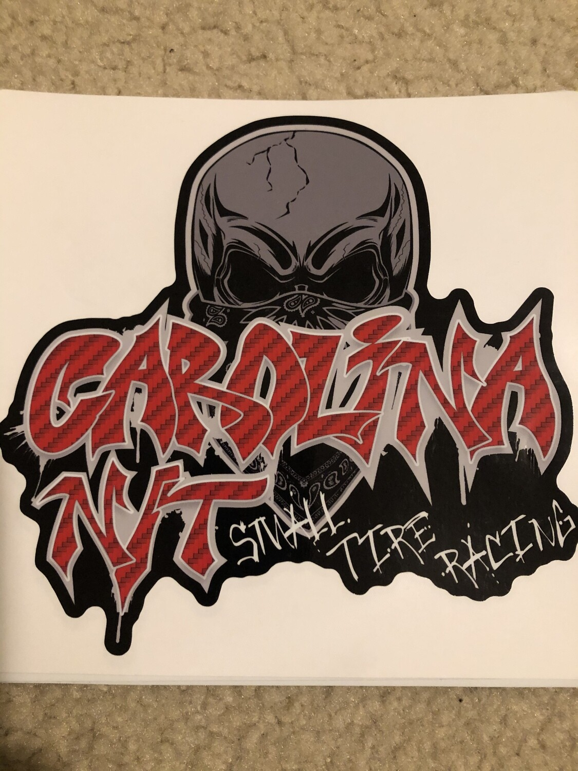 2020 Graffiti Red Letters Decal