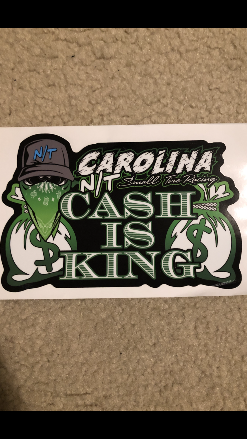 Cash Is King Decal