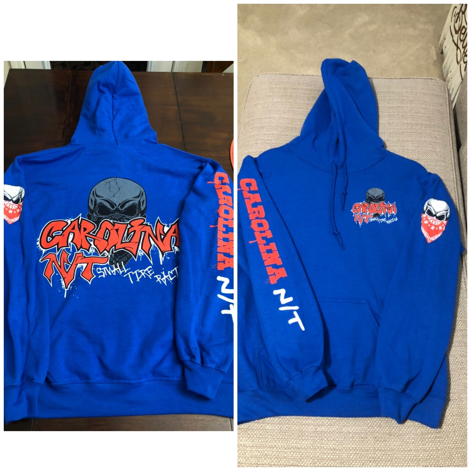 Blue /Red Letters hoodie
