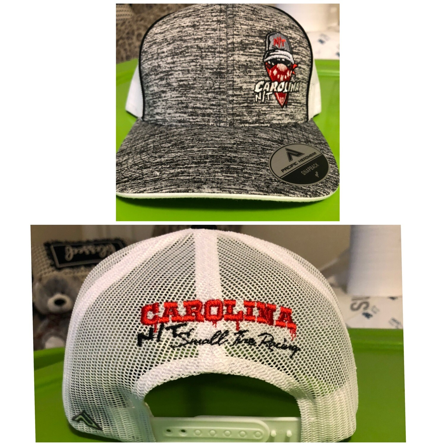 Grey/White New Ball Cap Bandit Red Trucker hat
