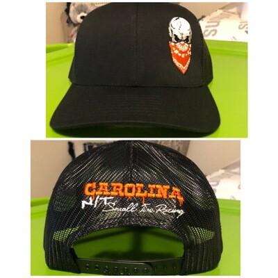 Black / OG orange Big Skull Trucker hat