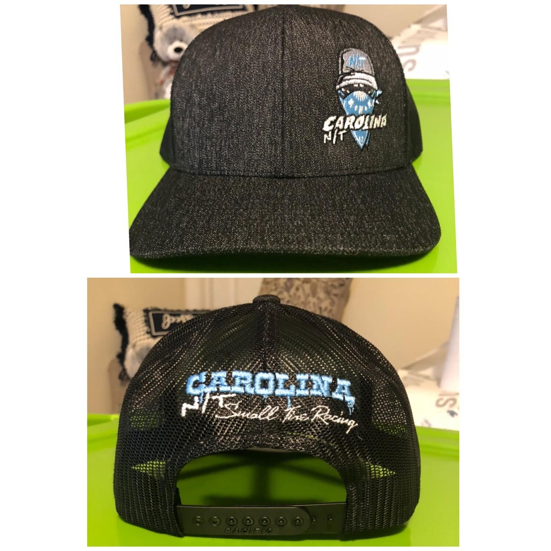 Dark Heather Grey New Carolina Blue Ball Cap Bandit Trucker hat