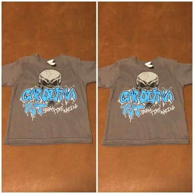 Dark Grey /Carolina Blue letter KIDS T-shirts
