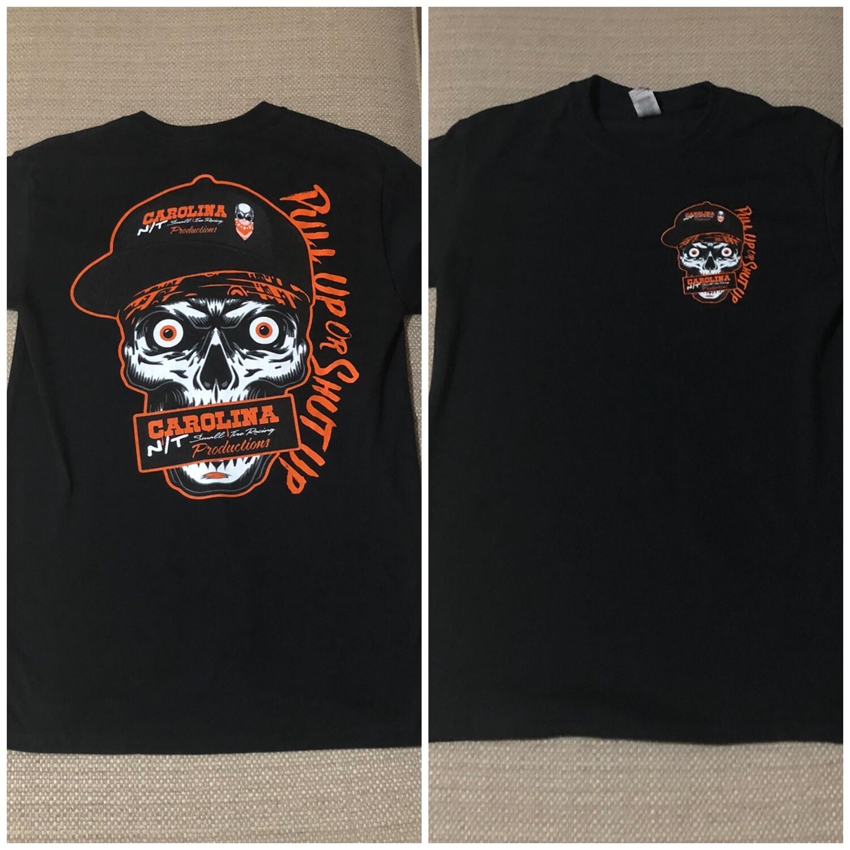 Pull up or shut Black/Orange T-Shirt