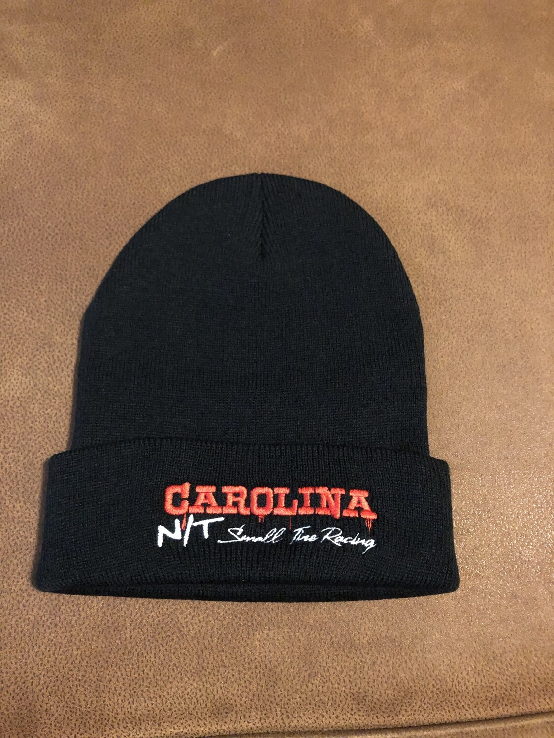 Black Beanie Red letters