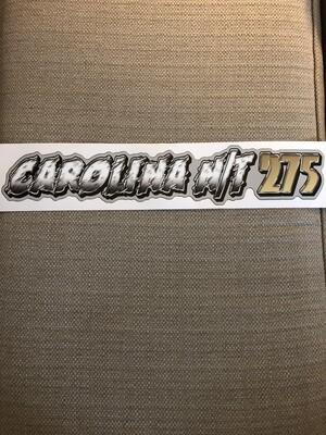 Carolina NT 275 Decal White/Gold