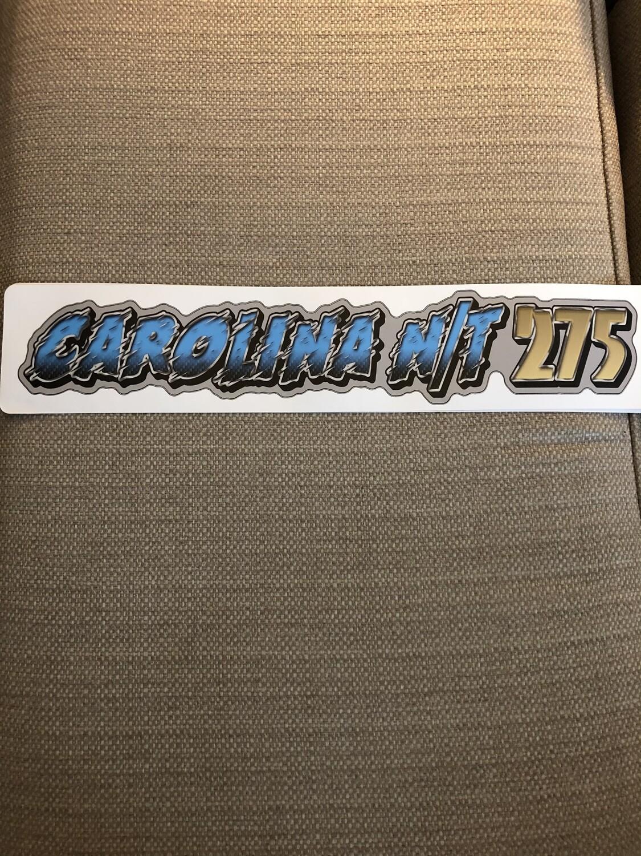 Carolina NT 275 Carolina Blue /Gold Decal